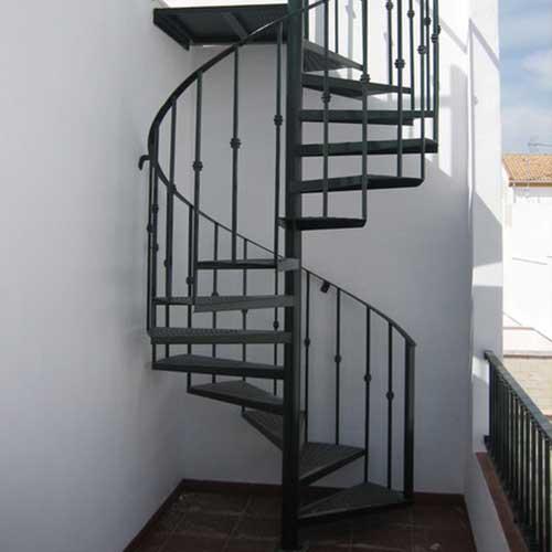 Escaleras caracol vidrio y acero zona oeste zona norte - Escalera de caracol prefabricada ...