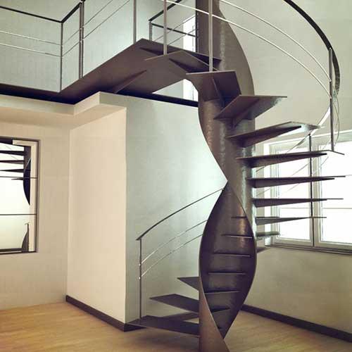 Escaleras helicoidales zona oeste zona norte pilar moreno - Precios de escaleras de madera para casas ...