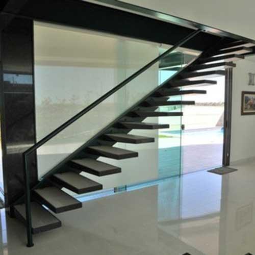 Escaleras a medida acero y vidrio zona oeste zona norte - Precio escalera madera ...