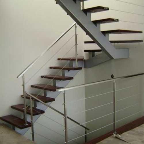 Escaleras de acero inoxidable vidrio zona oeste zona norte for Fabrica de escaleras de madera